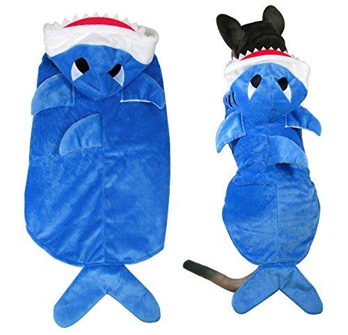 Esingyo Pet Cat Dog New Shark Costume Coat Jacket Dog Clothes For Boy Girl Medium Large Dogs 2Xl