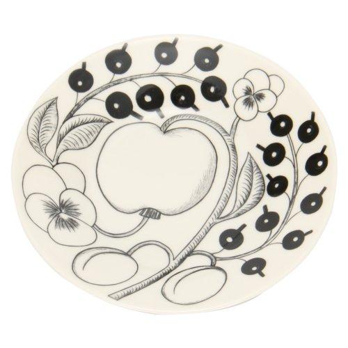 【Arabia】 アラビア ブラックパラティッシ PARATIISI BLACK&WHITE 64 1180006678-5 ソーサー(皿) 16.5cm Saucer 並行輸入品