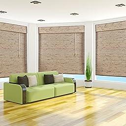 Petite Tropical Rustic Bamboo Roman Shade - Free Shipping, 26x54