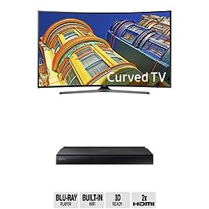 Samsung UN55KU6500 Curved 55-Inch TV with BD-J7500 Blu-ray Player