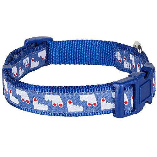 "Blueberry Pet Dog Collar Leash Harness Happy Pooch Fingers Up 3/4"" Medium Basic Polyester Nylon Dog Collar front-310275"