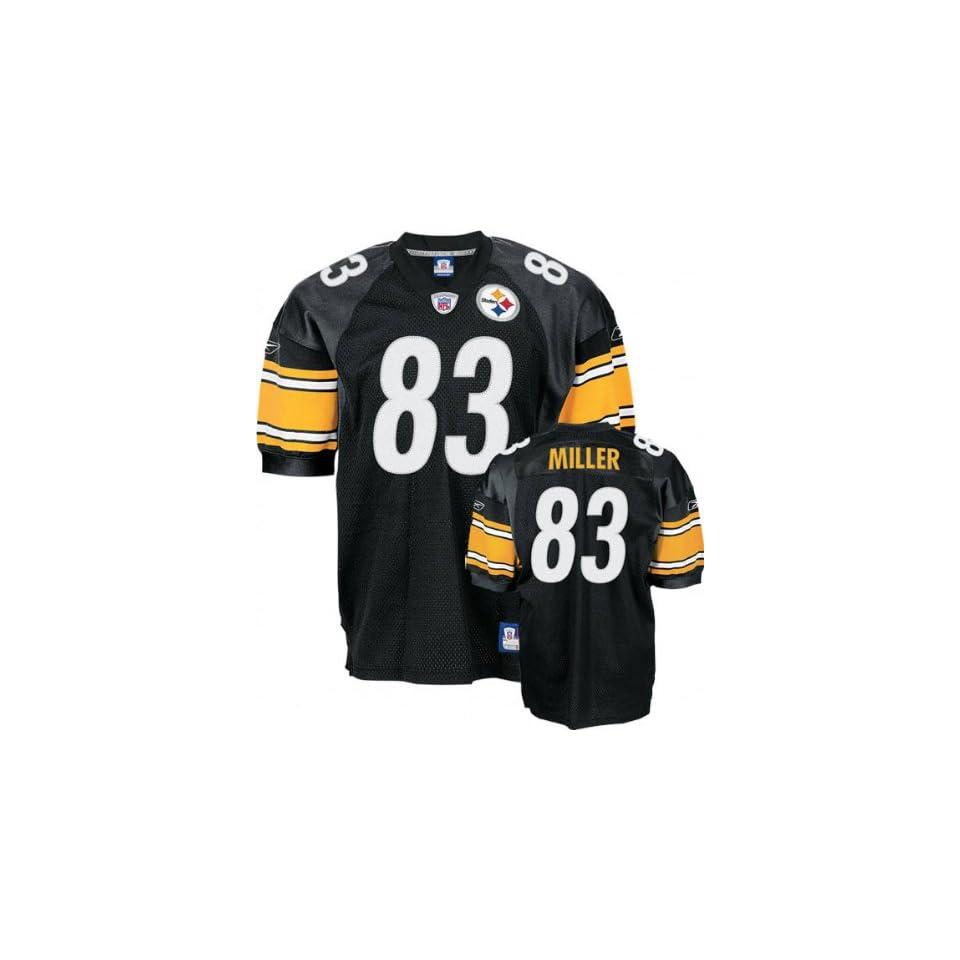 854241e0e Heath Miller Black Reebok NFL Authentic Pittsburgh Steelers Jersey ...