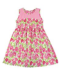SSMITN Girls' Dress(SK2211_2-3Y, Pink, 2-3Y)