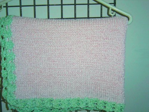Hand Knitted Baby Blanket back-333292
