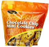 Pamelas Products Gluten Free Simplebites Mini Cookies, Chocolate Chip, 7-Ounce Pouches (Pack of 6)
