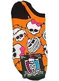 """Monster High """"Skulls"""" Girls' One Pair No-Show Socks (Size 4-10)"""