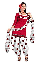 Araham Women Synthetic Dress Material (Gm2259 _Dark Pink _Free Size)