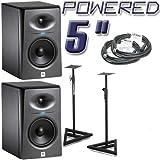 JBL LSR2325P Powered Studio Monitors Bundle