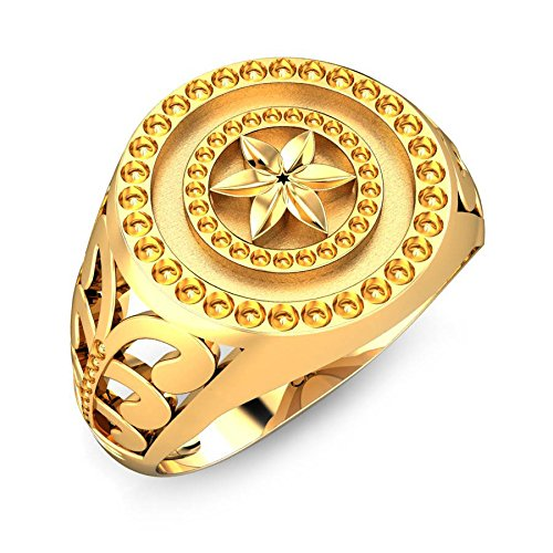 Candere 22k (916) Yellow Gold Daniel Ring