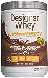 Designer Protein Sustained Energy - Premium Protein Powder with Soy, Chocolate Velvet, 1.5 Pound