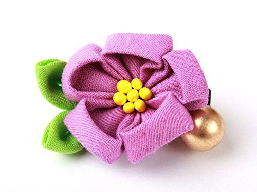 和風 花柄 ヘアピン 和装 髪飾り#薄紫色