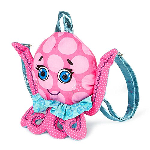 Claire's Accessories Pink and Blue Fabric Octopus Backpack