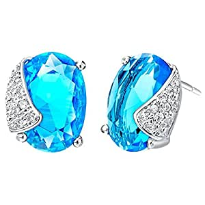 Amazon.com: Fonk Store Cheap Brincos De Festa Errings Blue CZ Diamond
