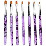 Katara Pinselset 7-teilig für Nailart, UV-Gel, Acryl, Onestroke, 1er Pack (1 x 7 Stück)