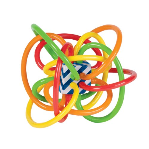 Manhattan Toy Winkel Color Burst Rattle and Sensory Teether Activity Toy - 1