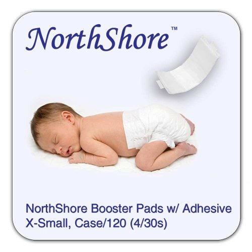 NorthShore Disposable Baby Diaper Doubler w/ Adhesive, 120 ct (4 bags of 30)
