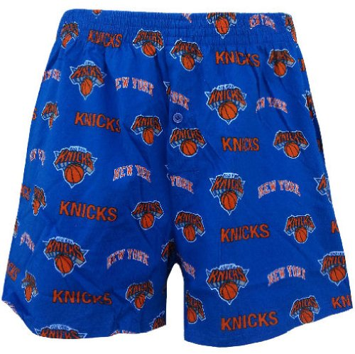 New York Knicks Mens Royal NBA Keynote Boxer Shorts by