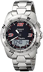 Tissot Men's T0134201105700 T-Touch Expert Stainless Steel Black Dial Watch
