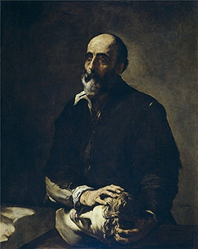 Perfect Effect Canvas ,the Reproductions Art Decorative Prints On Canvas Of Oil Painting 'Ribera Jose De The Blind Sculptor Or Allegory Of Touch 1632 ', 24 X 30 Inch / 61 X 77 Cm Is Best For Bathroom Artwork And Home Gallery Art And Gifts