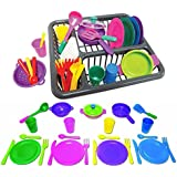 Children's Kitchen Play Dishes Set for Kids, 27 Piece set