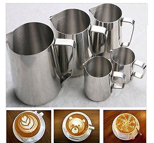 Stainless Steel Coffee & Tea Tools Quality 150ML 5 Oz Espresso Pitcher Kitchen Home Craft Coffee Jug Latte Frothing Jug (Metal Steamer Pitcher compare prices)