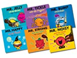 Roger Hargreaves Mr Men Glitter Collection, 6 books Pack Set, RRP £17.94 (Mr Jelly and the Pirates; Mr Tickle and the Dragon; Mr Bump and the Knight; Mr Happy and the Wizard; Mr Strong and the Ogre; Mr Nosey and the Beanstalk) (Mr Men)