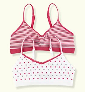 2 Pack - Older Girls' Seamfree Assorted Crop Tops