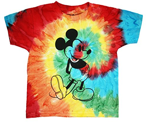 Disney Mickey Mouse Big Boys Far Out Tie Dye T Shirt (10/12) (Disney Shirts Tie Dye compare prices)