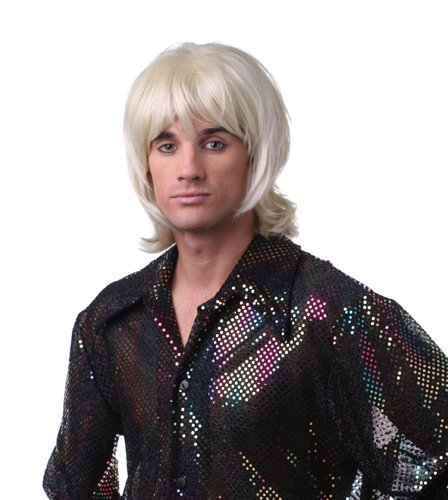 Mens Blonde Disco 70's Shag Halloween Costume Wig