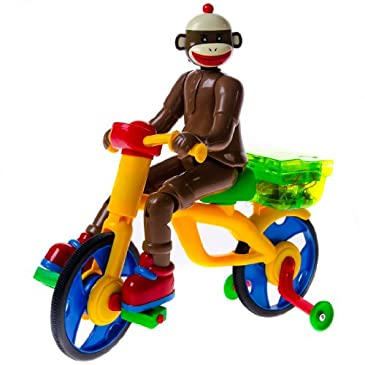Sock Monkey On A Bike