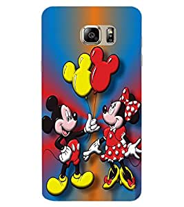 ColourCraft Lovely Cartoon Couple Design Back Case Cover for SAMSUNG GALAXY NOTE 7