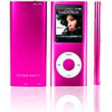 SAVFY 8GB MP3 MP4 Player with FM Radio, Games, Voice Recorder & Movie Player, 6 Bright Colours Available: Black, Silver, Purple, Red, Blue and Pink