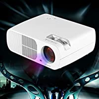 Uhappy Mini LED Projector for iPhone iPad Home Theatre Cinema 320x240 with AV/VGA/USB/SD/HDMI Input from Uhappy