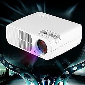 Uhappy Mini LED Projector for iPhone iPad Home Theatre Cinema 320x240 with AV/VGA/USB/SD/HDMI Input from Uhappy