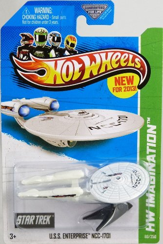BATTLE DAMAGED 2013 Hot Wheels HW Imagination - Star Trek - USS Enterprise NCC-1701 164 Scale Collectible Die Cast Car Model with Flames