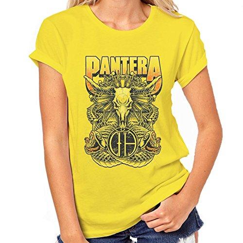 Pantera Steer-Maglietta classica da donna giallo XX-Large