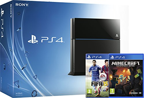 Sony PlayStation 4 Console with FIFA 15 and Minecraft (PS4)