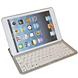 "White iPad mini Aluminium Stand & Bluetooth Keyboard Case Cover for iPad 7.9"" iPad mini USA"