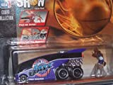 Utah Jazz Hot Wheels 1998 Pro Show NBA Diecast Bus Playset with Karl Malone and Hornacek Figures