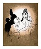 Hand Signed AL HIRSCHFELD, THE GAME'S AFOOT, SHERLOCK HOLMES & DR. WATSON, Limited-Edition Lithograph