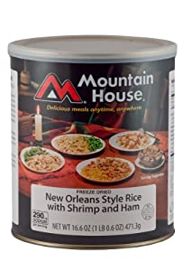 Mountain House #10 Can Low Sodium New Orleans Rice with Shrimp and Ham (81/2- 1 cup servings)