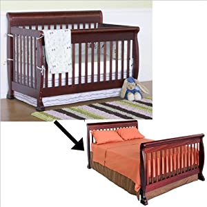 Baby Bed Mesurment : ... Crib Set w/ Full/Twin Size Bed Rail in Cherry : Da Vinci Cribs : Baby