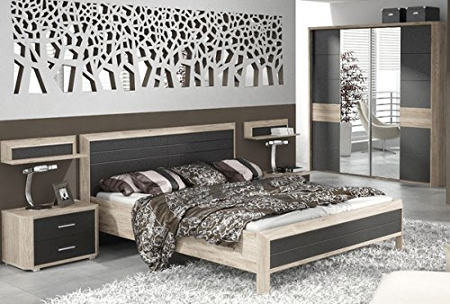 Schlafzimmer komplett 215366 4-teilig san remo eiche / lava günstig bestellen