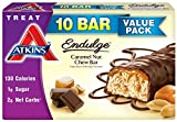Atkins Endulge Treat, Caramel Nut Chew Bar, 10 Bars
