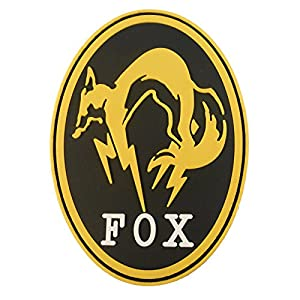 Metal Gear Solid Fox Hound Ground Zeroes PS4 Xbox Cosplay PVC 3D Velcro Écusson Patch