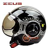 バイクヘルメット ZEUS 218C ヘルメット ジェット パイロット 期間限定、送料無料【商品5・XXLサイズ】