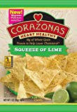 CORAZONAS Heart Healthy Squeeze of Lime Tortilla Chips, 1-Ounce Bags (Pack of 24)