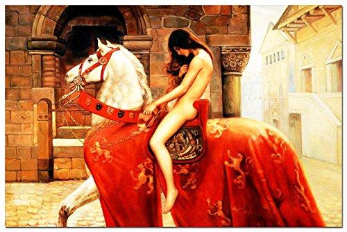 eloleo-88477afg-quadro-su-tela-john-collier-lady-godiva-great-60x90-cm