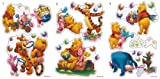 Disney Winnie the Pooh Pack of 18 Self-Adhesive Wall Stickers - NEW