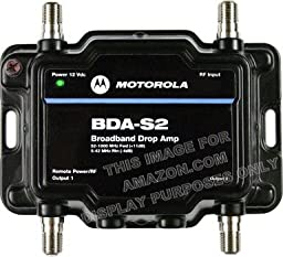 Motorola Signal Booster 2-Port BDA-S2 Cable Modem TV HDTV Amplifier